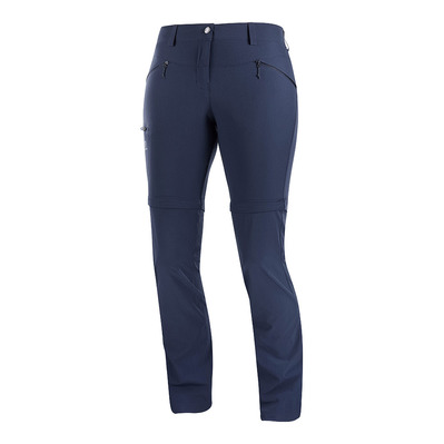 SALOMON - WAYFARER STRAIGHT ZIP - Pantalon convertible Femme night sky