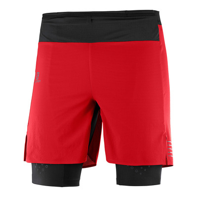 SALOMON - EXO MOTION TWINSKIN - Shorts - Men's - goji berry