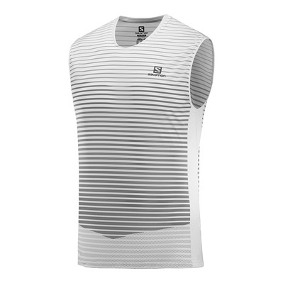 SALOMON - T Shirt SENSE TANK M White/Alloy Homme WHITE/ALLOY