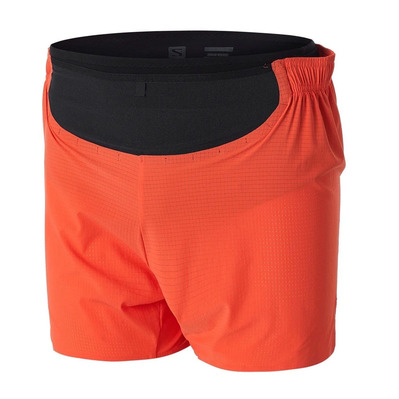 SALOMON - SENSE PRO - Short Homme tomato/black