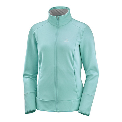 SALOMON - DISCOVERY LT FZ - Polaire Femme meadowbrook/heather