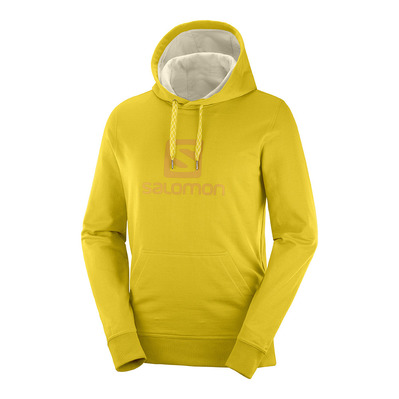 SALOMON - LOGO - Sweat Homme lemon curry