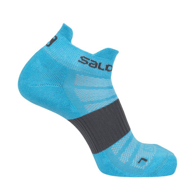 SALOMON - Socks SENSE 2-PACK Forged Iron/VIVID Unisexe BLACK/BLACK