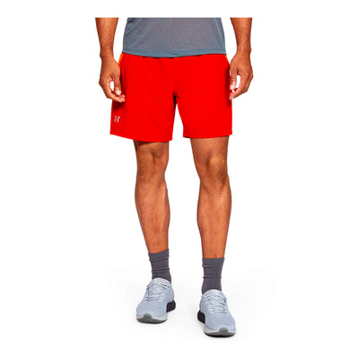 UNDER ARMOUR - UA LAUNCH SW 7'' SHORT-ORG Homme Ultra Orange/Orange Spark/Reflective