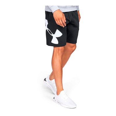 UNDER ARMOUR - RIVAL FLEECE LOGO SWEATSHORT-BLK Homme Black/White