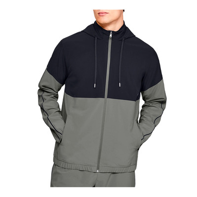 UNDER ARMOUR - RECOVERY WOVEN - Veste Homme gravity green/black/metallic silver