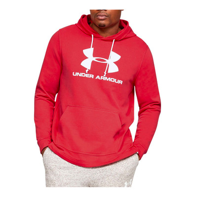 UNDER ARMOUR - SPORTSTYLE TERRY LOGO HOODIE-RED Homme Cordova/Onyx White