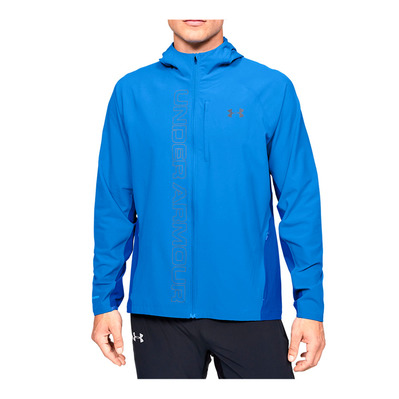 UNDER ARMOUR - M UA Qualifier OutRun the STORM Jacket-B Homme Water/Versa Blue/Reflective