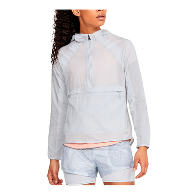 UNDER ARMOUR - QUALIFIER - Chaqueta mujer halo gray/halo gray/reflective