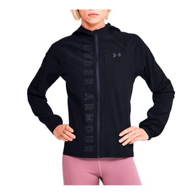 UNDER ARMOUR - W UA Qualifier OutRun the Storm Jacket-B Femme Black/Black/Reflective