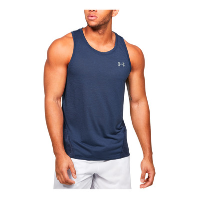 UNDER ARMOUR - M UA Streaker 2.0 Shift Singlet-BLU Homme Blue Ink/Midnight Navy/Reflective