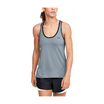 UNDER ARMOUR - UA Knockout Tank-GRN Femme Hushed Turquoise/Halo Gray/Black