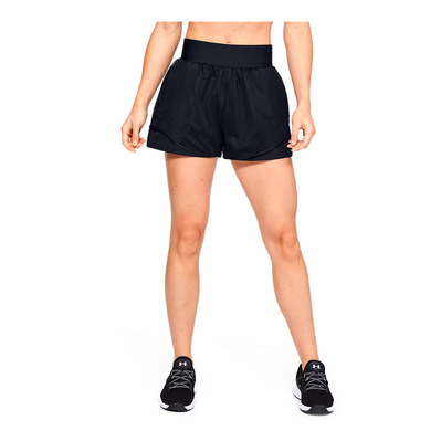 UNDER ARMOUR - UA WARRIOR MESH - Short mujer black/black/black