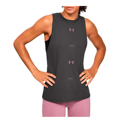 UNDER ARMOUR - UA GRAPHIC MUSCLE - Débardeur Femme jet gray/hushed pink