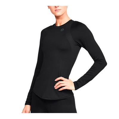 UNDER ARMOUR - UA Rush LS-BLK Femme Black/Black