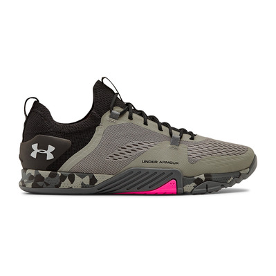 UNDER ARMOUR - TRIBASE REIGN 2 - Chaussures training Homme gravity green/black/halo gray