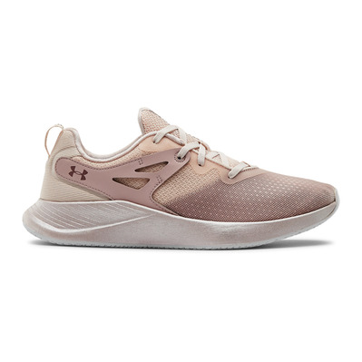 UNDER ARMOUR - CHARGED BREATHE - Zapatillas de training mujer french gray/dash pink/hushed pink
