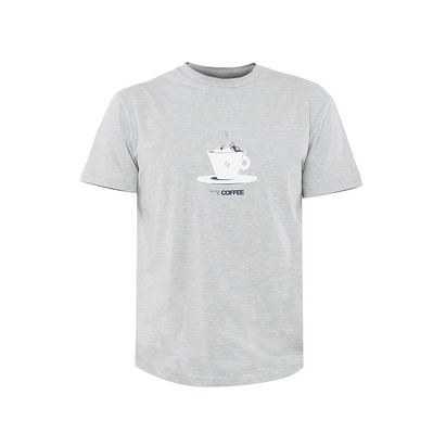 ABK COFFEE - Tee-shirt Homme light grey