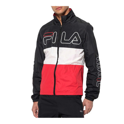 687143 HUGO TRACK - Veste Homme black/bright white/true red