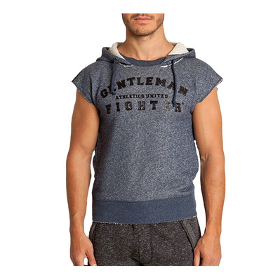 Gentleman Fighter LEGANO - Sweat Homme bleu denim