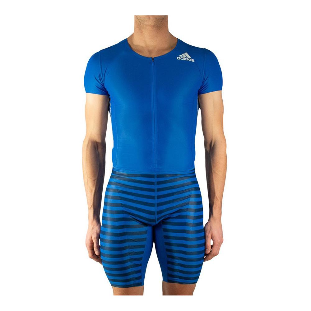 salud pedestal aplausos  ADIDAS Adidas AZ SS PU SUIT M - Trisuit - Men's - blue - Private Sport Shop
