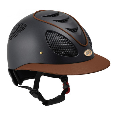 FIRST LADY LEATHER - Casque Femme chestnut