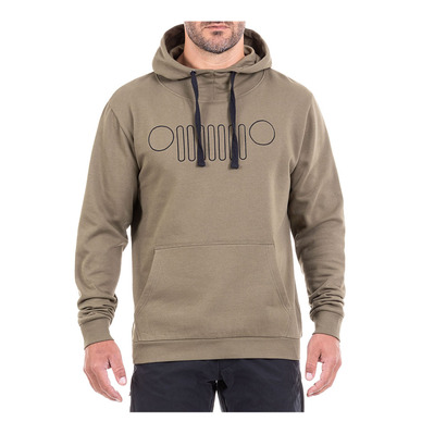 Outfitter O101148 - Sudadera hombre burnt olive/black