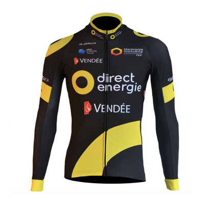 PRO DIRECT ENERGIE - Maillot Homme black/yellow
