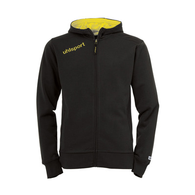 ESSENTIAL CAPUCHE - Sweat black/yellow corn