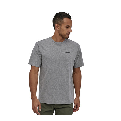 PATAGONIA - P-6 LOGO - T-shirt Uomo gravel heather