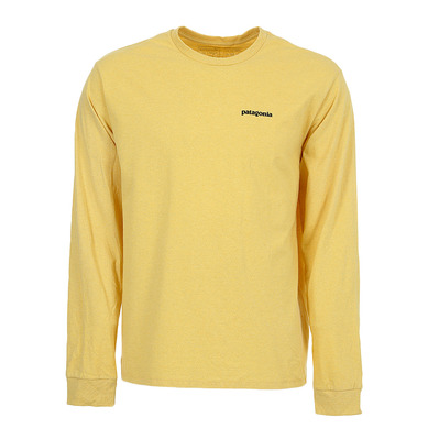 PATAGONIA - M's L/S P-6 Logo Responsibili-Tee Homme Surfboard Yellow