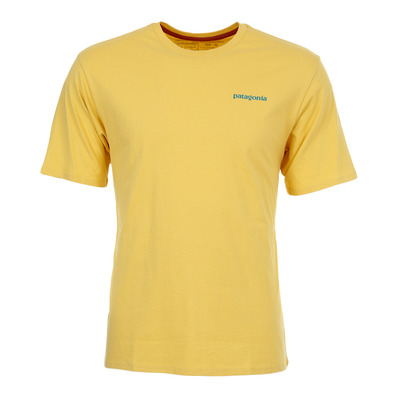 PATAGONIA - FLYING FISH ORGANIC - Tee-shirt Homme surfboard yellow w/squash blossoms