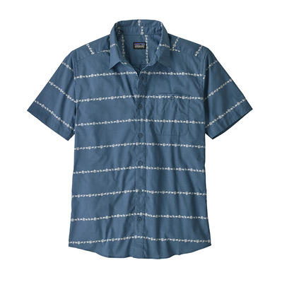 PATAGONIA - M's Go To Shirt Homme Hemp Stripe: Pigeon Blue
