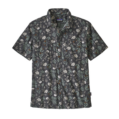 PATAGONIA - M's Back Step Shirt Homme Fiber Flora Multi: Forge Grey