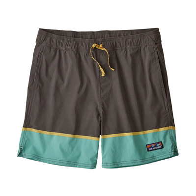 PATAGONIA - STRETCH WAVEFARER VOLLEY - Boardshort Homme bottom leg stripe/forge grey