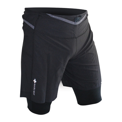 RAIDLIGHT - RESPONSIV - Short 2 en 1 Homme black