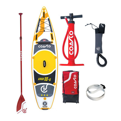 "ARGO 10'6"" - Stand up paddle gonflable grey/yellow + accessoires"