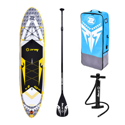 X2 10'10 - Stand Up Paddle gonflable yellow/black + accessoires