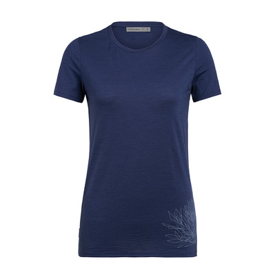 ICEBREAKER - SPECTOR ICE PLANT - T-shirt Donna estate blue