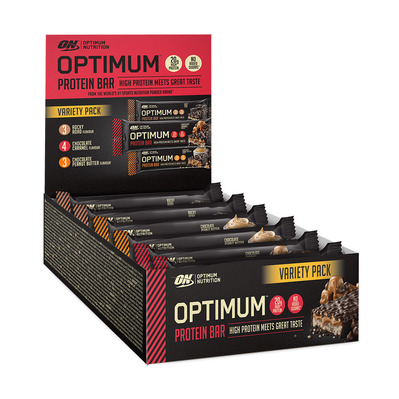 OPTIMUM BAR VARIETY PACK - Barres protéinées 7x60g + 3x62g multisaveurs