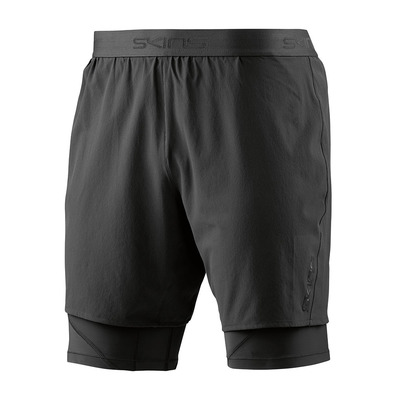 SUPERPOSE DNAMIC - Short 2 en 1 Homme black/silver