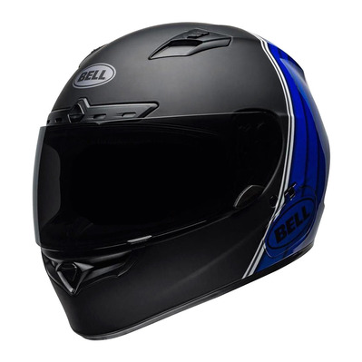 QUALIFIER DLX MIPS® ILLUSION - Casque intégral mat/shiny black/blue/white