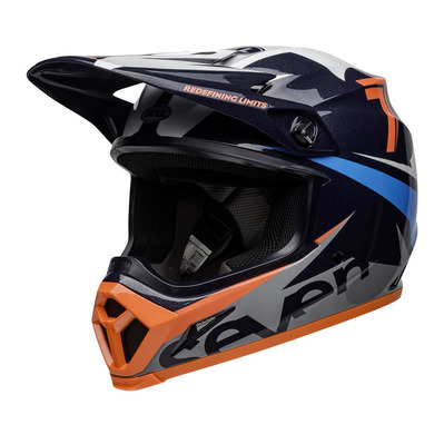 MX-9 MIPS® SEVEN IGNITE - Casque off-road gloss navy/coral