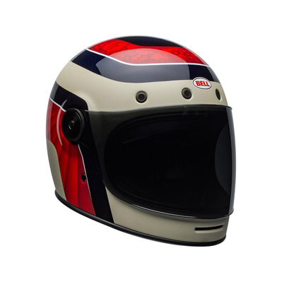 BULLITT CARBON - Casque intégral (vintage) hustle matte/gloss red/sand/candy blue