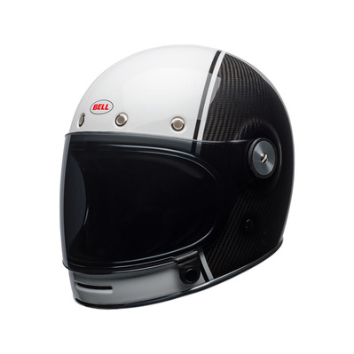 BULLITT PIERCE CARBON - Casque intégral (vintage) gloss white/carbon