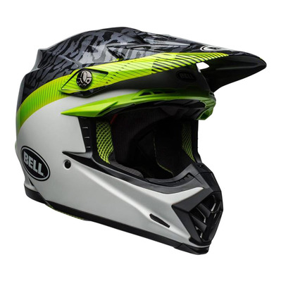MOTO-9 FLEX MIPS® CHIEF - Casque off-road mat/shiny black/white/green