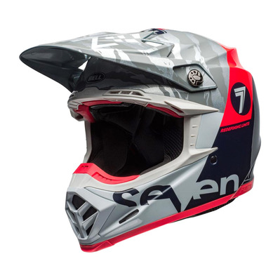 MOTO-9 FLEX SEVEN ZONE - Casque off-road shiny navy/corail