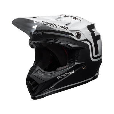 MOTO-9 MIPS FASTHOUSE - Casque off-road gloss/mat black/white