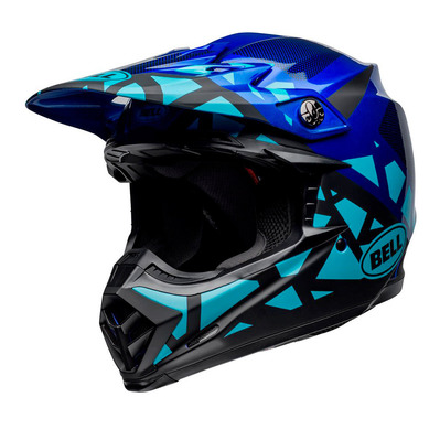 MOTO-9 MIPS® TREMOR - Casque off-road gloss blue/black