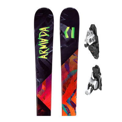 ARW 84 - Skis all mountain/freestyle Femme + Fixations PRD 12 MBS B85 mat white/black